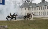 inscenizacja bitwy o pałac potockich, 2009, fot