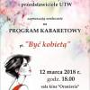 Program kabaretowy Być kobietą