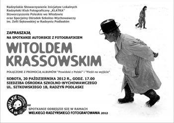 Spotkanie autorskie z fotografikiem Witoldem Krassowskim