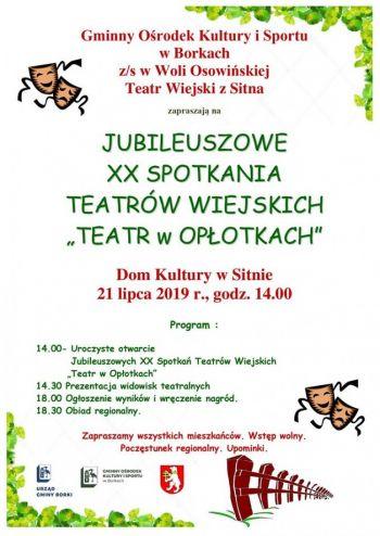XX Teatr Wiejski Teatr w Opłotkach 2019