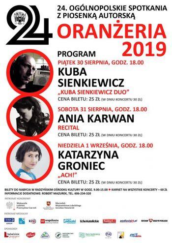 24 Ogólnopolskie Spotkania z Autorską ORANŻERIA 2019