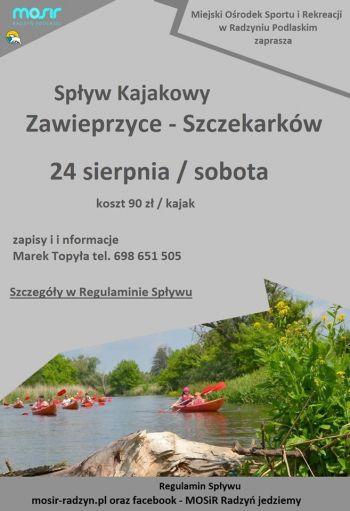 Spływ Kajakowy  Zawieprzyce -Szczekarków 2019