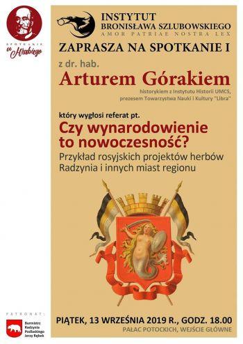 I Spotkanie z Arturem Górakiem w Pałacu Potockich