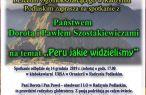 Spotkanie z Dorotą i Pawłem Szostakiewiczami  pt: Peru jakie widzieliśmy.