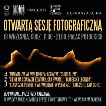 Otwarta sesja fotograficzna w pałacu Potockich