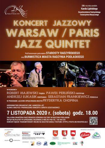 Koncert jazzowy w ramach XXXVII Dni Karola Lipińskiego