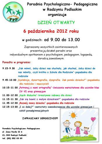 Dzień Otwarty w Poradni Psychologiczno - Pedagogicznej