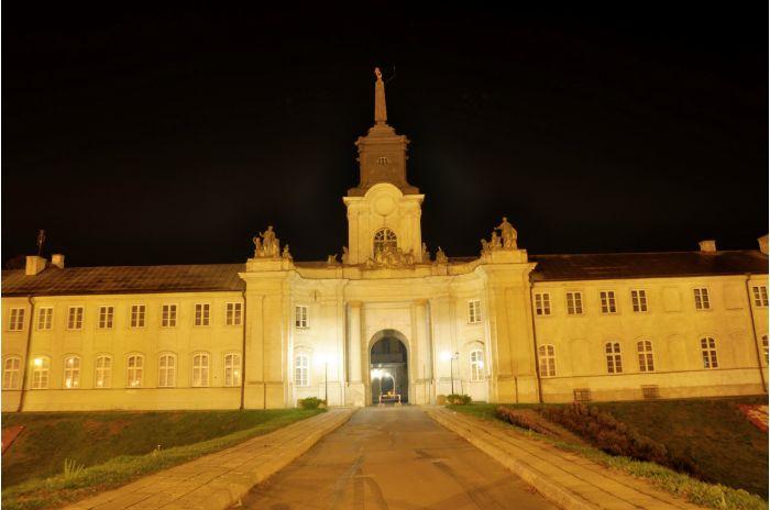 Radzyń Podlaski pałac w nocy
